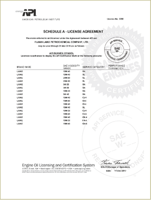API'S ENGINE OIL LICENSING AND CERTIFICATION SYSTEM